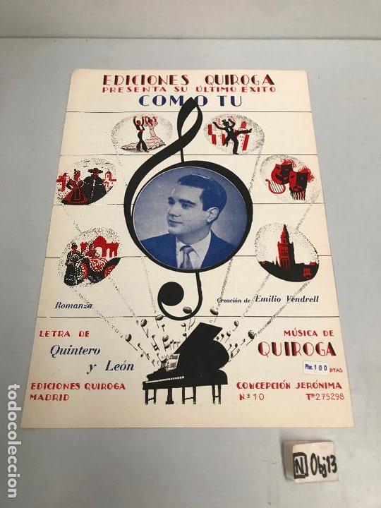 EDICIONES QUIROGA - EMILIO VENDRELL (Música - Partituras Musicales Antiguas)