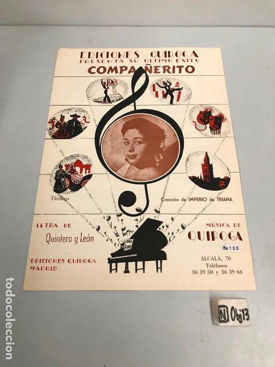 EDICIONES QUIROGA - IMPERIO DE TRIANA (Música - Partituras Musicales Antiguas)
