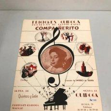 Partituras musicales: EDICIONES QUIROGA - IMPERIO DE TRIANA . Lote 190405116