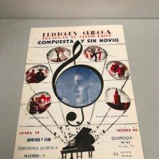 Partituras musicales: EDICIONES QUIROGA - JUANITA REINA . Lote 190405162