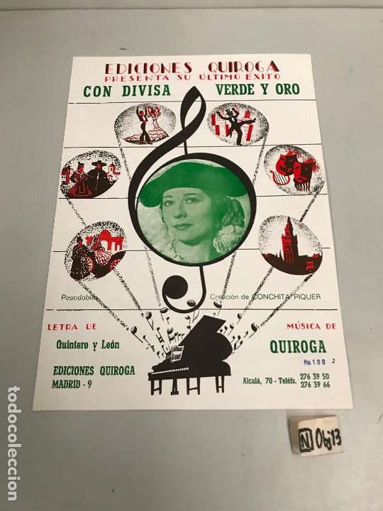 EDICIONES QUIROGA - CONCHITA PIQUER (Música - Partituras Musicales Antiguas)