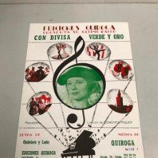 Partituras musicales: EDICIONES QUIROGA - CONCHITA PIQUER . Lote 190405192