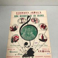 Partituras musicales: EDICIONES QUIROGA - CONCHITA PIQUER . Lote 190405210