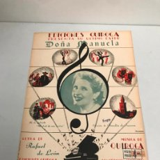 Partituras musicales: EDICIONES QUIROGA - AMALIA . Lote 190405242