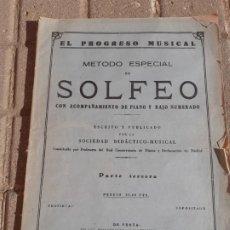 Partituras musicales: EL PROGRESO MUSICAL METODO DE SOLFEO SOCIEDAD DIDACTICO MUSICAL 1953 PARTE TERCERA. Lote 190882723