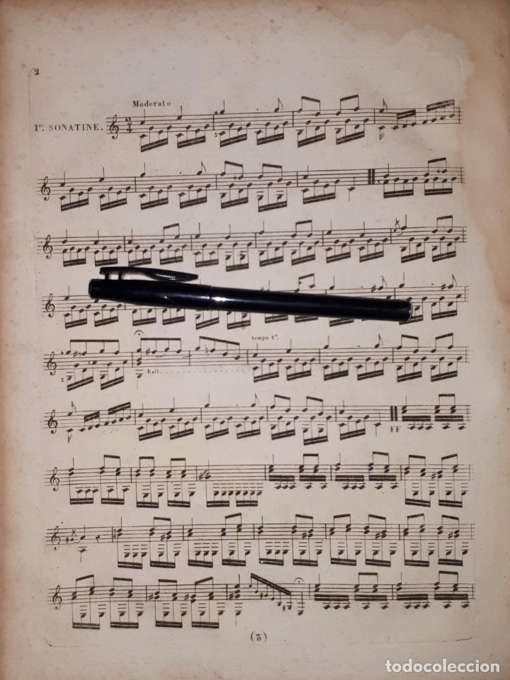 Partituras musicales: Trois Sonatines dune exécution facile et brillante pour guitare, par C. de Marescot Guitarra - Foto 2 - 191424250