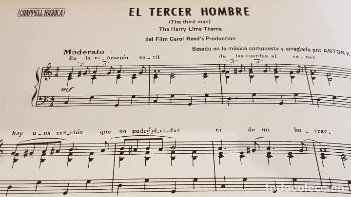 Partituras musicales: PARTITURA !! EL TERCER HOMBRE / ANTON KARAS / CHAPELL IBÉRICA-MADRID - 1973 - Foto 3 - 191684070