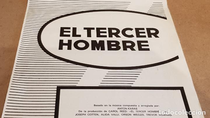 PARTITURA !! EL TERCER HOMBRE / ANTON KARAS / CHAPELL IBÉRICA-MADRID - 1973 (Música - Partituras Musicales Antiguas)