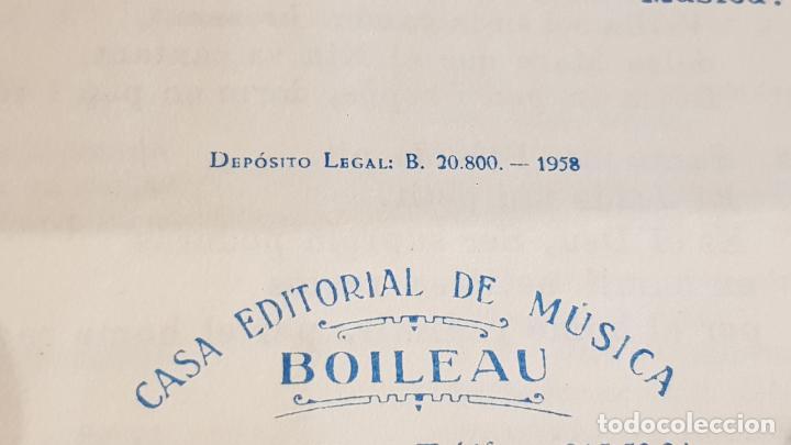 Partituras musicales: PARTITURA !! SANTA NIT / NOCHE DE PAZ / FRANZ X. GRUBER / EDITORIAL BOILEAU-1958-BARCELONA - Foto 2 - 191684396