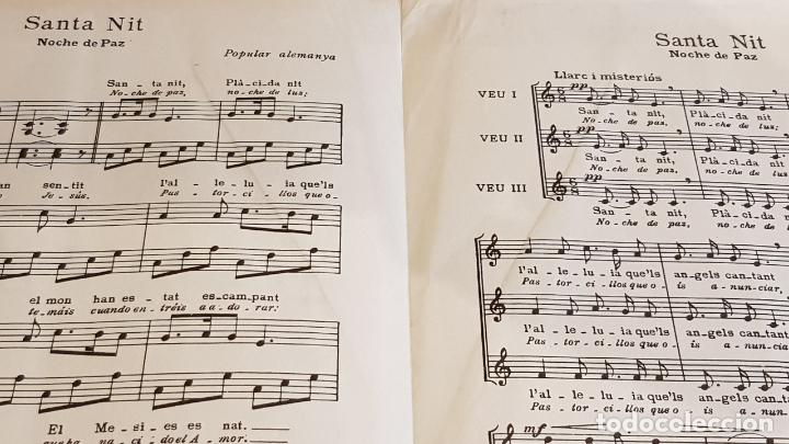 Partituras musicales: PARTITURA !! SANTA NIT / NOCHE DE PAZ / FRANZ X. GRUBER / EDITORIAL BOILEAU-1958-BARCELONA - Foto 3 - 191684396