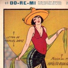 Partituras musicales: H. RODRÍGUEZ Y MANUEL SANZ : EL MOTOR - TANGO RUMBA - MARGARITA DUPRÉ (DO RE MI). Lote 192029470