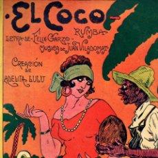 Partituras musicales: F. GARZO Y J. VILADOMAT : EL COCO - RUMBA - ADELITA LULU (DO RE MI). Lote 192029497