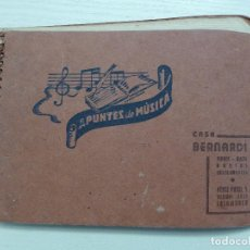 Partituras musicales: CUADERNILLO APUNTES DE MUSICA CASA BERNARDI SALAMANCA. Lote 193361751