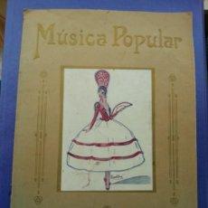 Partituras musicales: MÚSICA POPULAR. XII. FIGURAS DE VARIETÉS. EL MAESTRO ROMO. ALBUM EXTRAORDINARIO Nº XII.(PARTITURAS).. Lote 193827642