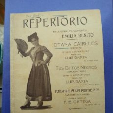 Partituras musicales: EMILIA BENITO. GITANA CAIRELES.BULERIAS.EDITA FAUSTINO FUENTES.MADRID ( PARTITURA ). Lote 193833940