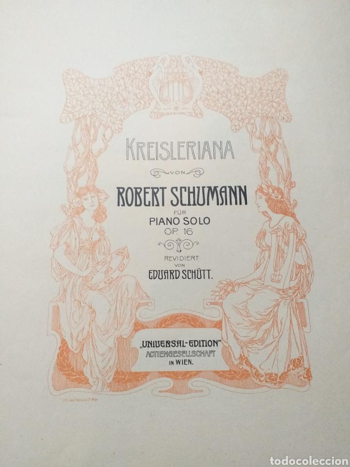 Partituras musicales: ANTIGUA PARTITURA SCHUMANN - Foto 2 - 194184372