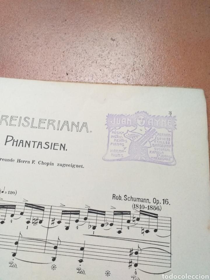 Partituras musicales: ANTIGUA PARTITURA SCHUMANN - Foto 3 - 194184372