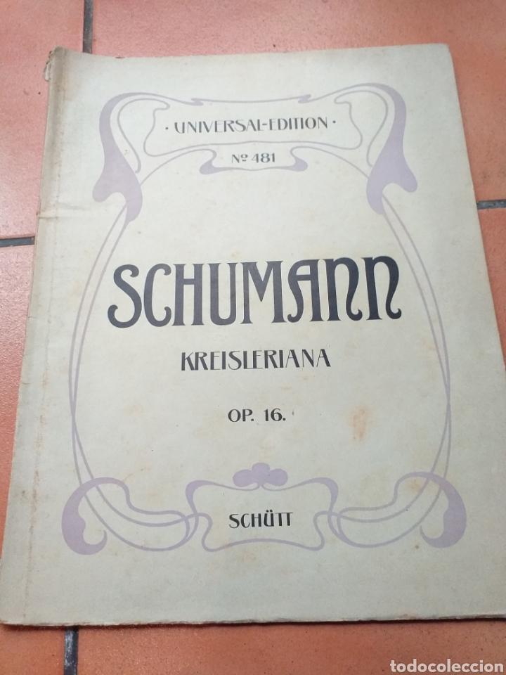 ANTIGUA PARTITURA SCHUMANN (Música - Partituras Musicales Antiguas)