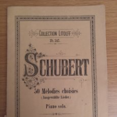 Partituras musicales: COLLECTION LITOLFF NUM 140 SCHUBERT. Lote 194213940
