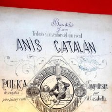 Partituras musicales: ANIS CATALÁN - POLKA - MATARÓ - 1900. Lote 194405133