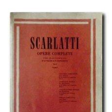 Partituras musicales: SCARLATTI. OPERE COMPLETE PER CLAVICEMBALO IN 10 VOLUMI E UN SUPLEMENTO. VOL. I. ( LONGO). E. R. 541. Lote 194504367