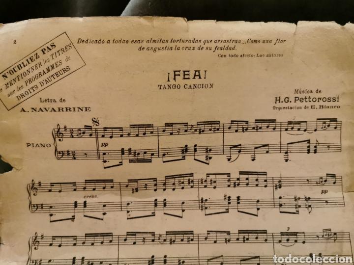 Partituras musicales: ¡Fea! Tango canción de 1926 - Foto 7 - 194646471