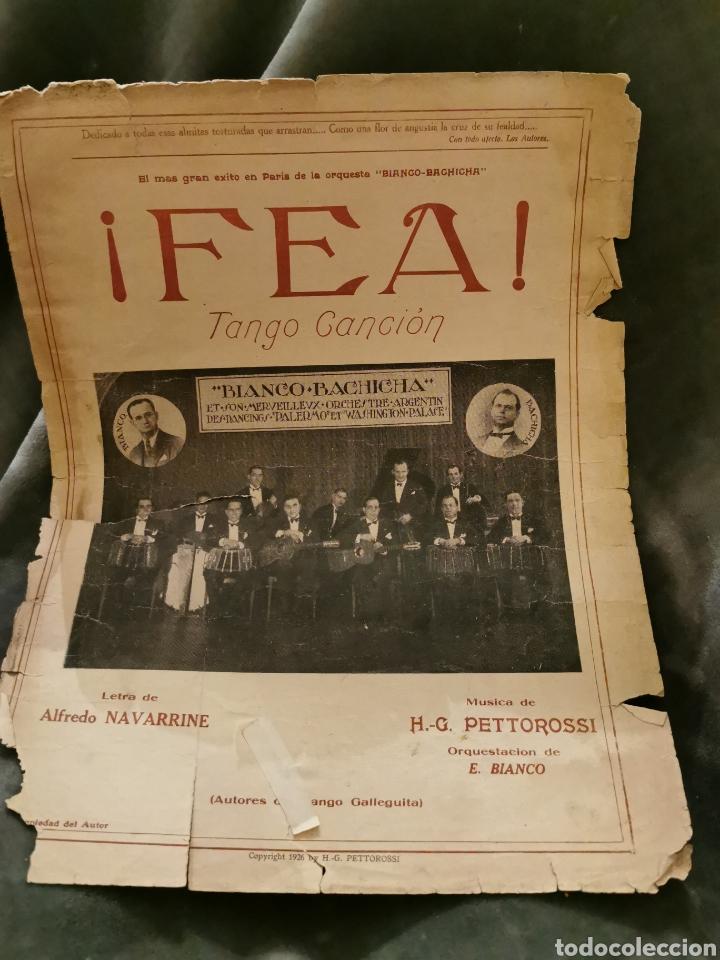 ¡FEA! TANGO CANCIÓN DE 1926 (Música - Partituras Musicales Antiguas)
