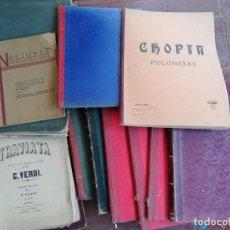 Partituras musicales: LOTE DE PARTITURAS ANTIGUAS ..... Lote 194950927
