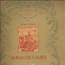 Partituras musicales: JOHANN STRAUSS. ÄLBUN DE VALSES PARA PIANO, 52 PÁGINAS CON AS PARTITURAS DE LOS 8 VALSES. Lote 195020337