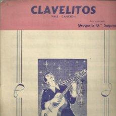 Partituras musicales: CLAVELITOS. CARPETILLA CON MÚSICA Y LETRA DE 4 PÁG.. Lote 195020603