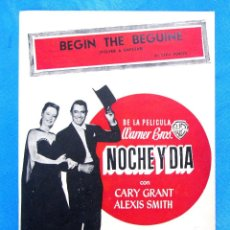 Partituras musicales: PARTITURA BEGIN THE BEGUINE. VOLVER A EMPEZAR. COLE PORTER, PELÍCULA NOCHE Y DÍA. CARY GRANT. Lote 195281866