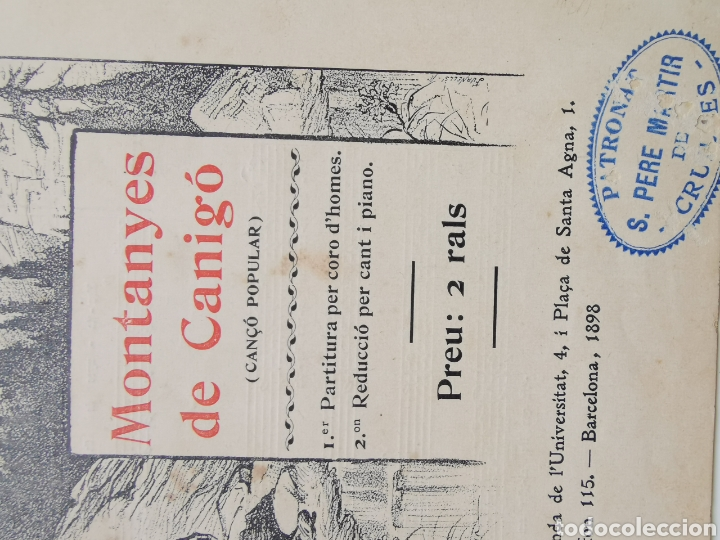 Partituras musicales: Partitura de Cançons Catalanes. Harmonisades per Enric Morera - Foto 2 - 195291597