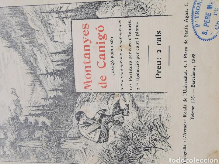Partituras musicales: Partitura de Cançons Catalanes. Harmonisades per Enric Morera - Foto 3 - 195291597