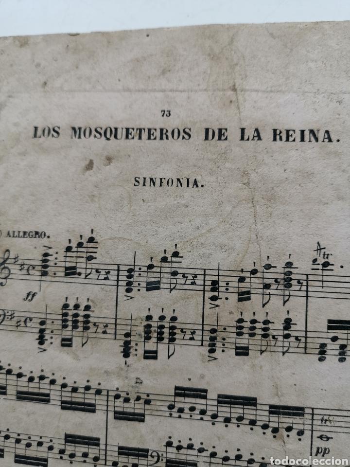 Partituras musicales: Partitura Antigua los Mosqueteros de la Reina. Sinfonía. 11 páginas - Foto 2 - 195312831