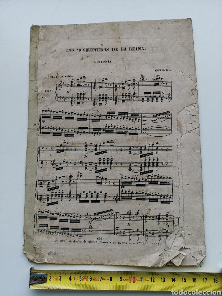 PARTITURA ANTIGUA LOS MOSQUETEROS DE LA REINA. SINFONÍA. 11 PÁGINAS (Música - Partituras Musicales Antiguas)