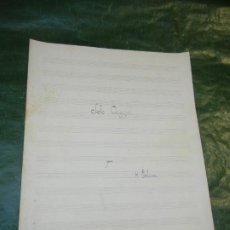 Partituras musicales: SOLO ORIGINAL, DE HILARION ESLAVA, TRANS.TROMPA Y PIANO - MANUSCR. VICENTE ZARZO PITARCH. Lote 195314673