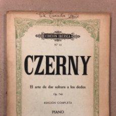 Partituras musicales: CZERNY, EL ARTE DE DAR SOLTURA A LOS DEDOS OP. 740). EDICIÓN COMPLETA - PIANO. EDITORIAL BOILEAU. Lote 195381932