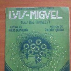 Partituras musicales: CREACIÓN DE RAQUEL MELLER: LOS DOS RIVALES P0R LUIS MIGUEL. Lote 209618898