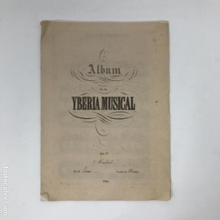 Partituras musicales: LITOGRAFÍA DE PARTITURAS ÁLBUM DE LA YBERIA MUSICAL 1844 - Foto 9 - 72886971