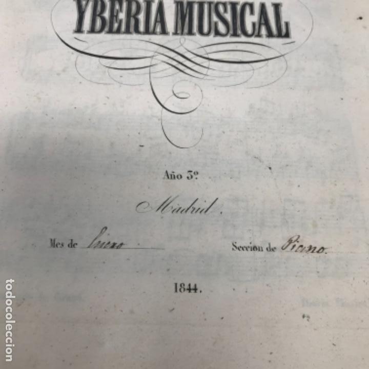 Partituras musicales: LITOGRAFÍA DE PARTITURAS ÁLBUM DE LA YBERIA MUSICAL 1844 - Foto 10 - 72886971