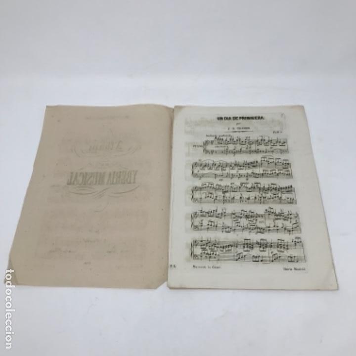 Partituras musicales: LITOGRAFÍA DE PARTITURAS ÁLBUM DE LA YBERIA MUSICAL 1844 - Foto 12 - 72886971