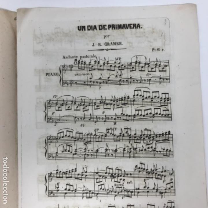 Partituras musicales: LITOGRAFÍA DE PARTITURAS ÁLBUM DE LA YBERIA MUSICAL 1844 - Foto 13 - 72886971