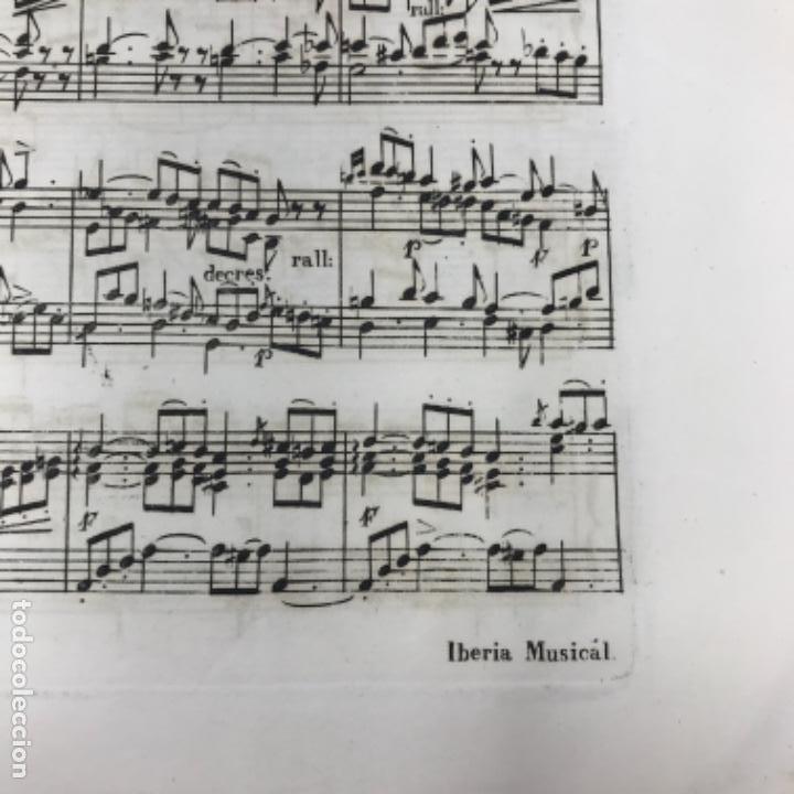 Partituras musicales: LITOGRAFÍA DE PARTITURAS ÁLBUM DE LA YBERIA MUSICAL 1844 - Foto 14 - 72886971
