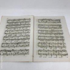 Partituras musicales: LITOGRAFÍA DE PARTITURAS ÁLBUM DE LA YBERIA MUSICAL 1844. Lote 72886971