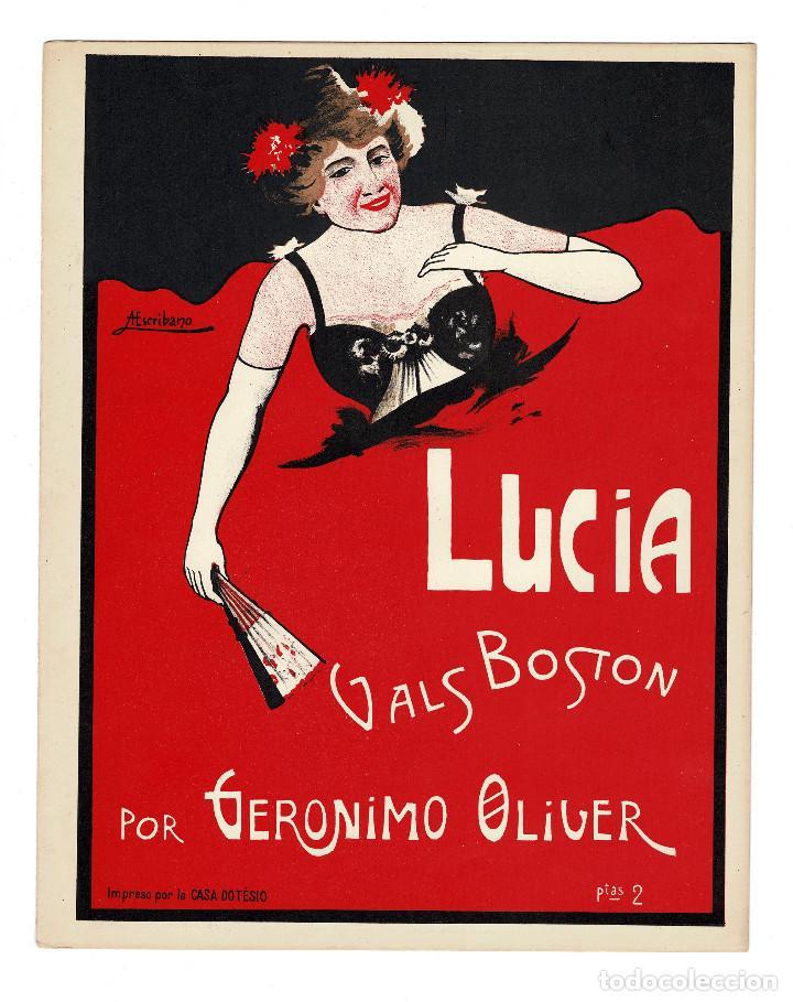 PARTITURA.- LUCÍA. VALS BOSTON AUTOR: GERONIMO OLIVER. (Música - Partituras Musicales Antiguas)