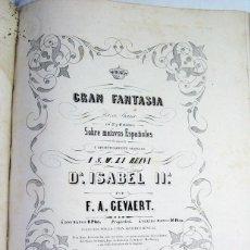 Partituras musicales: LIBRO DE PARTITURAS ALBUM DE LA ILUSTRACION MUSICAL. T. Y SOLER. BARCELONA. ISABEL II. SIGLO XIX. Lote 197349042