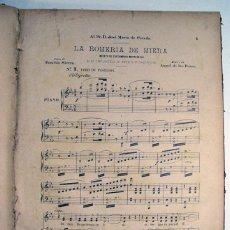 Partituras musicales: ANTIGUO LIBRO CON MAS DE 45 PARTITURAS. ALBUM DE LA ILUSTRACION MUSICAL. BARCELONA SIGLO XIX / XX. Lote 197447612