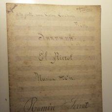 Partituras musicales: SARDANA EL RIEROL DE RAMÓN SERRAT I FAJULA. DEDICADA A CARME CASADESUS PORTRAVELLA. 1919. RIPOLL. Lote 197594442