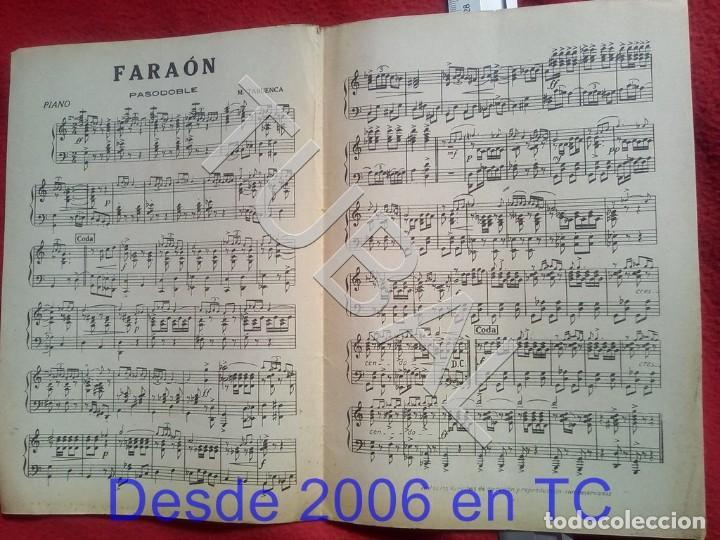Partituras musicales: TUBAL M TABUENCA FARAON PASODOBLE PARTITURA ANTIGUA 1933 P5 - Foto 2 - 197859393