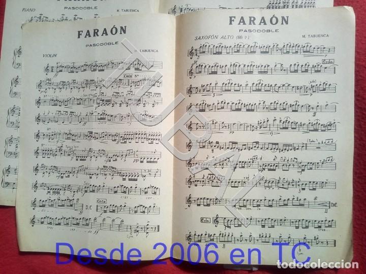 Partituras musicales: TUBAL M TABUENCA FARAON PASODOBLE PARTITURA ANTIGUA 1933 P5 - Foto 3 - 197859393